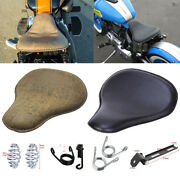 For Harley Davidson Fatboy Bobber Chopper Solo Driver Seat Leather Soft 6 Style