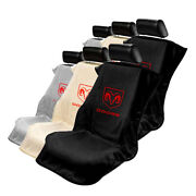 Seat Armour Set Of 2 Cloth Seat Cover Towels Fit For Dodge - Dodge Ram Logo