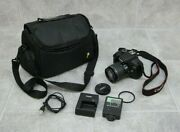 Canon Ds126621 W/ Canon Zoom Lens 58mm, Uv Filter, Charger, Battery, Flash, Case
