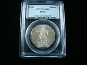 1925 Norse Silver Commemorative Medal Thick Pcgs Graded Ms65 Very Nice