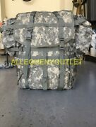 Us Military Acu Molle Ii Large Rucksack With Frame Kidney Pads And 2 Pouches Gc
