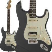 Fender Made In Japan Hybrid 60s Stratocaster Hss Charcoal Frost Metallic W/gb