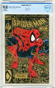 Spider-man 1 Cbcs 9.8 Nmmt White Pgs Gold Edition 8/90 2nd Printing Liz