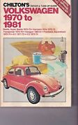 Chiltons Repair And Tune Up Manual Guide Volkswagen 1970 To 1981