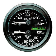 Racetech Oil Pressure And Temperature Dual Mechanical Gauge - Race/rally