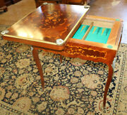 Early Restored French Games Table Inlaid King Wood And Satinwood Backgammon Mint