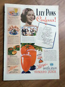 1937 Libbyand039s Tomato Juice Ad Lily Pons 1937 The Mayfair Chair By Karpen Ad
