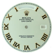 Rolex 543932 Day-date 30mm Roman Numeral Beige Dial For 41mm President Men Watch