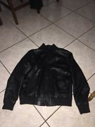 Rare Lifted Research Group 100 Leather Jacket Womens Sz Medium Used Black