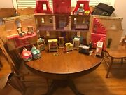Rare Vintage Fisher Price Loving Family Grand Mansion Load Dollhouse Accessories