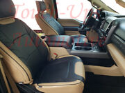 2015-2018 Ford F150 Xlt Supercrew Katzkin Leather Seat Covers Limited Blk Bisque