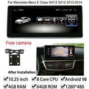 Android 10 Car Gps Stereo 4+64gb Ram For Mercedes Benz E Class W212 2013-2014