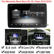 Android 10 Car Gps Stereo 4+64gb Ram Bt For Mercedes Benz Ml Gl Class 2012-2015