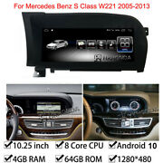 Android 10 Car Gps 64gb Wifi For Mercedes Benz S Class W221 S300 350 2005-2013
