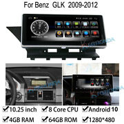 Android 10 Car Gps Stereo Navi 4+64gb Ram For Mercedes Benz Glk Class 2009-2012