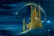 The Gold Castle- Peter And Harrison Ellenshaw - Limited Edition Giclee On Canvas