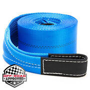 4 X 30and039 Heavy Duty Recovery Winch Tow Loop Strap 4x4 Rope Chain Towing Tow