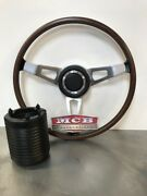 1970 Challenger Rim Blow Steering Wheel New With Dodge Center Cap And Crush Can