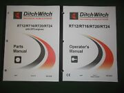 Ditch-witch Rt12 Rt16 Rt20 Rt24 Trencher Operators Operation Parts Manual Book