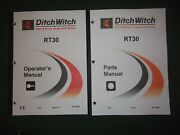 Ditch-witch Rt30 Trencher Operators Operation Maintenance Parts Manual Book