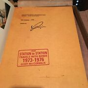 David Bowie From Station To Station Signed Genesis Publications Book