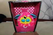 Furby Boom Pink W/ White Polka Dots Teal Ears Interactive Toy Works