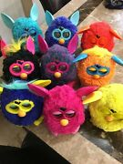 Furby's 9 Piece Different Color Tested 2012 Euc Working Condtion