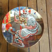 Set Of 4 Rare The Greatest Clowns Of The Circus Collectors Plates