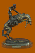 Frederick Remington Wooly Chaps Bronze Statue Horse Western Reproduction Deal