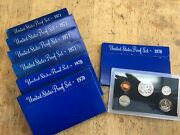 Lot Of 7 - 1970/1971 Proof Coin Sets From The Us Mint   827
