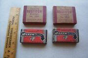 4 Boxesvtg Collectible Antique Genuine Bostitch And Arrow Staples 1940's - 1950's