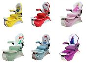 Kid Pedicure Spa Chair For Nail Salon Stool Included / Free Shipping