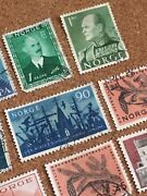 Norway Norge Used Stamp Set Franked Scandinavia Europa 1961 Famous People Oslo