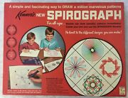Vintage 1967 Kenner Spirograph No. 401 Blue Tray Penspins Near Complete