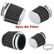 4x 50mm Motorcycle Air Filters Cleaner Cold Engine Intake Pod For Yamaha Honda