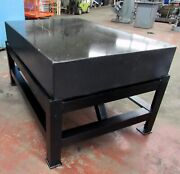 48andrdquo X 72andrdquo Black Granite Surface Plate On Steel Stand Id I-043