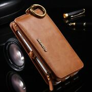 Genuine Floveme Leather Wallet 18 Card Slots Cover Case For Iphone And Samsung