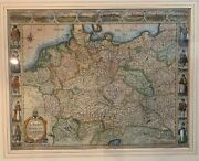 A.newe Mape Of Germany John Speed 1626 Rare And Great Condition