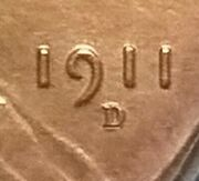 1911-d/d Lincoln Cent Pcgs Uncirculated Details Fs-012.81 Gold Shield