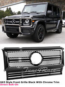 02-17 Benz G Class W463 Black Chrome Front Grille Hood Radiator Grill G63 G65