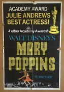 Mary Poppins Original Vintage Poster Movie Pin-up 1964 Style C Julie Andrews 60s