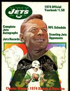 1974 Nfl Football New York Jets Yearbook Exmt