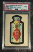 1973 Topps Wacky Packages Spray Nit 1st Series White Back Psa 9 Mint Card