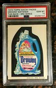 1973 Topps Wacky Packages Drowny Softener 3rd Series Tan Psa 10 Gem Mint Card
