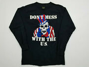 Don't Mess With The Us T Shirt Men's Medium Vintage 80s Usmc Military Uncle Sam
