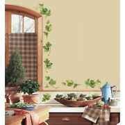 38 New Evergreen Ivy Wall Decals Country Kitchen Decor Green Leaves Border Vines