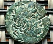 Ancient Greek Bronze Coin Ae23 Zeus And Trident Unknown.
