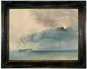 Turner A Paddle-steamer In A Storm 1841 Wood Framed Canvas Print Repro 12x16