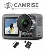 Dji Osmo Action Camera With 2 Displays, 32gb Micro Sd And Camrise Usb Reader