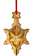 Baccarat Crystal 2017 Christmas Tree Ornament 20k Gold Brand New In Red Gift Box